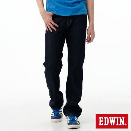 EDWIN REBEL基本五袋直筒牛仔褲-男-原藍色
