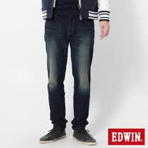 EDWIN 大尺碼 迦績褲 針織AB牛仔褲-男-原藍磨