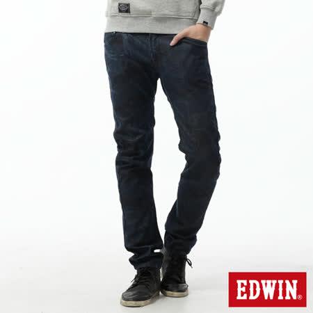 EDWIN EF迷彩3D中直筒牛仔褲-男-原藍色