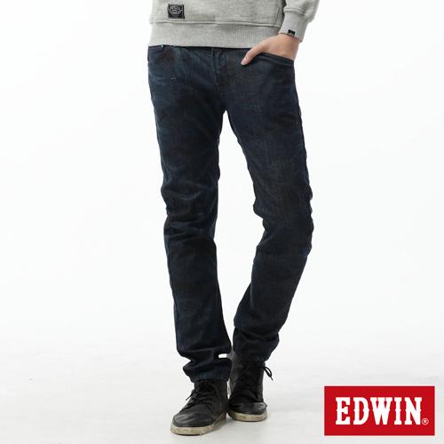 EDWIN EF迷彩3D中直筒牛仔褲~男~原藍色