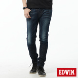 EDWIN EDGE LINE 窄直筒牛仔褲-男-酵洗藍