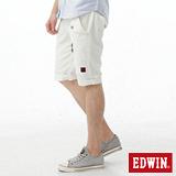 EDWIN 503KHAKI拉鍊短褲-男-白色