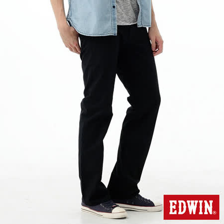 EDWIN EDGE直筒牛仔褲-男-黑色