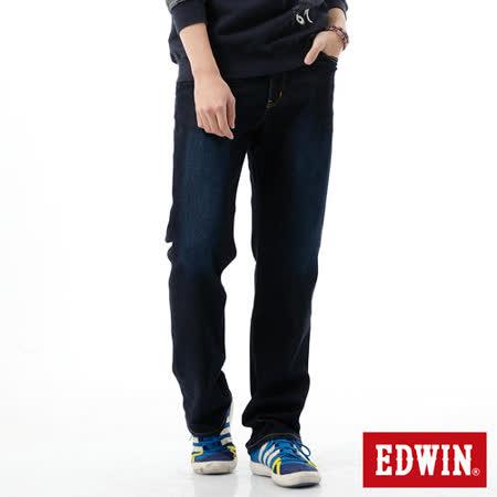 EDWIN REBEL基本五袋直筒牛仔褲-男-原藍磨