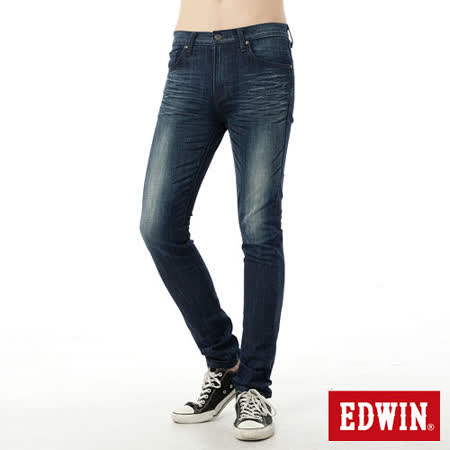 EDWIN 大尺碼窄直筒 EDGE窄直筒牛仔褲-男-原藍磨