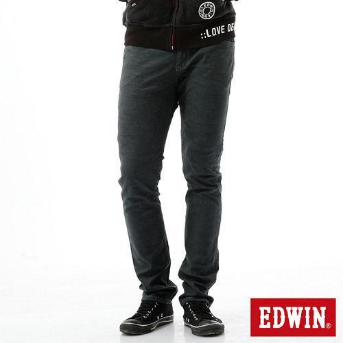 EDWIN EDGE提織迷彩後染窄直筒褲~男~墨綠色