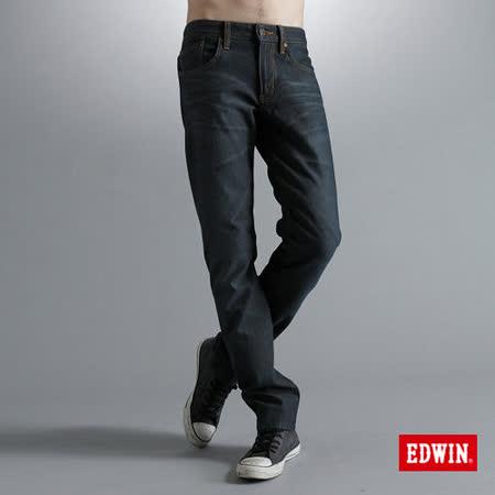 EDWIN 大尺碼 503ZERO雷射中直筒保溫褲-男款(酵洗藍)