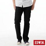 EDWIN 503ZERO直筒牛仔褲-男-黑色