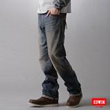 EDWIN XV拉鍊直筒牛仔褲-男-拔淺藍