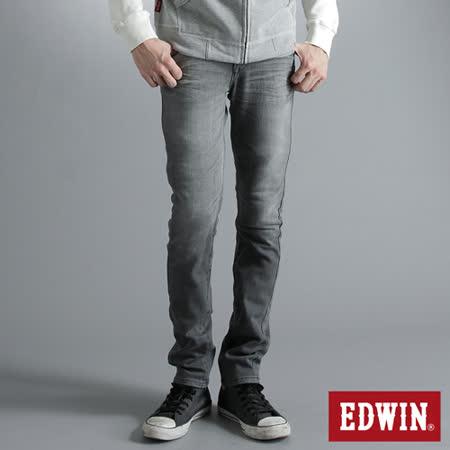 EDWIN E-FUNCTION 窄直筒牛仔褲-男-銀灰