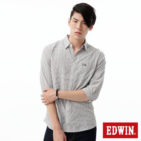EDWIN 金線質感襯衫-男-灰色