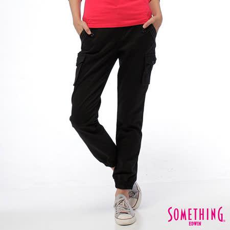 SOMETHING LADIVA束口工作褲-女-黑色