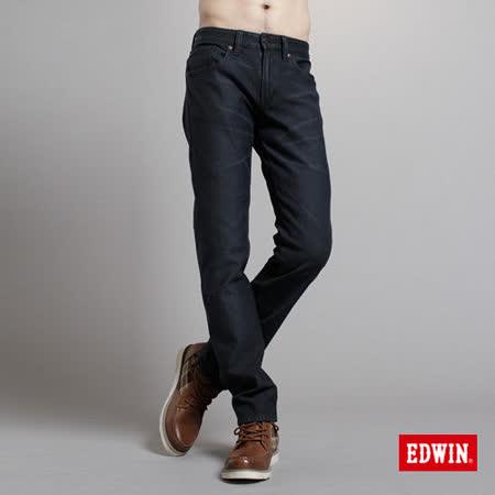 EDWIN 大尺碼 503ZERO雷射中直筒保溫褲-男款(原藍色)