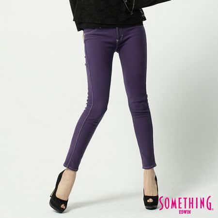 SOMETHING LADIVA保溫窄直筒色褲-女-紫色