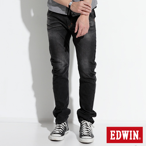 EDWIN E~FUNCTION ZERO中直筒牛仔褲~男~灰色