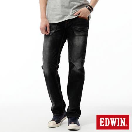 EDWIN BT麂皮中直筒牛仔褲-男-灰色