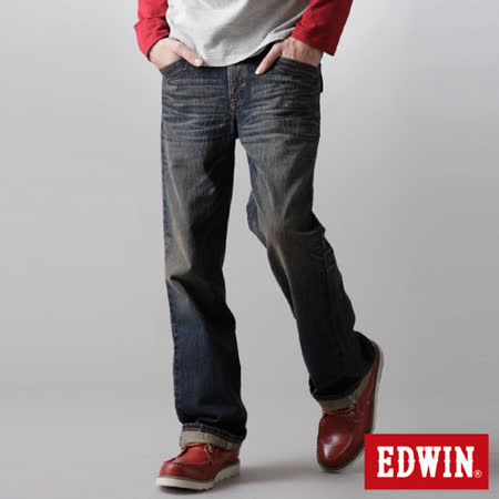 EDWIN XV袋蓋靴型牛仔褲-男-中古藍