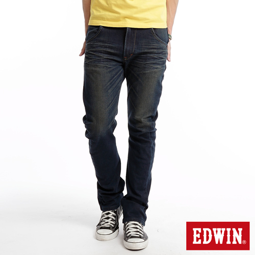 EDWIN E~FUNCTION ZERO中直筒牛仔褲~男~中古藍