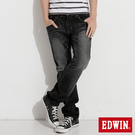 EDWIN NEW503五袋直筒牛仔褲-男-灰色