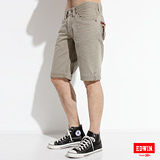 EDWIN XV拉鍊短褲-男款(灰卡其)