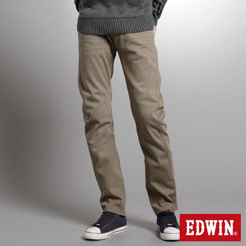 EDWIN W~F EF迷彩窄直筒保溫褲~男~褐色
