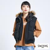 SOMETHING 繽紛冬戀-LADIVA窄直筒保溫褲-女款(麻灰格)