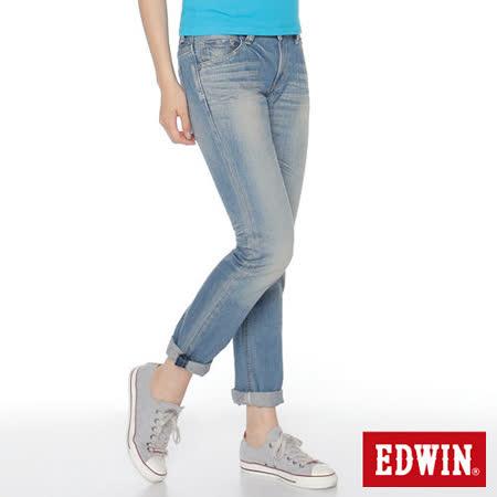 EDWIN  MISS NEW503小直筒牛仔褲-女-拔淺藍