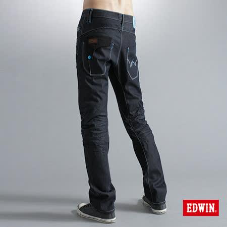 EDWIN E-FUNCTION 袋蓋窄直筒牛仔褲-男-原藍色