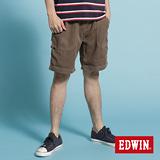 EDWIN EASY PANT天絲棉短褲-男款(褐色)