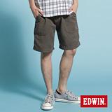 EDWIN EASY PANT天絲棉短褲-男款(暗咖啡)