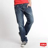 EDWIN BT牛皮袋蓋中直筒牛仔褲-男-石洗藍