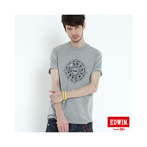 EDWIN 503星作X新作~訂製星盤篇~男款^(淺灰^)
