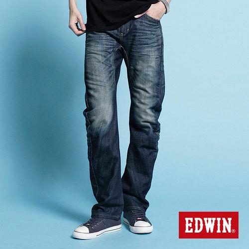 EDWIN NEW E~F503機能直筒牛仔褲~男~中古藍