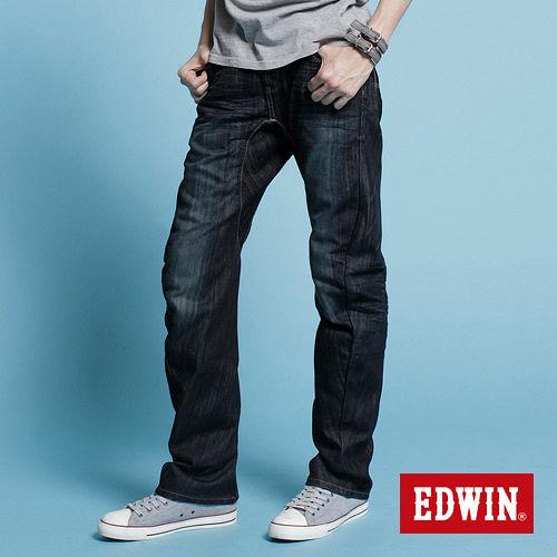 EDWIN NEW E~F503機能直筒牛仔褲~男~原藍磨