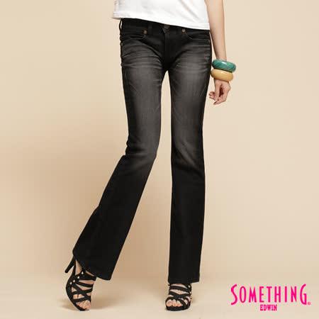 SOMETHING NEO低腰靴型牛仔褲-女-暗灰色