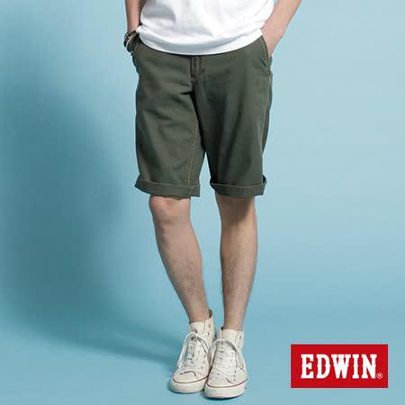 EDWIN KHAKI休閒馬褲-男-橄欖綠