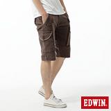 EDWIN 503KHAKI拉鍊短褲-男-咖啡色
