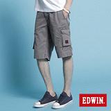 EDWIN KHAKI貼袋馬褲-男-灰色