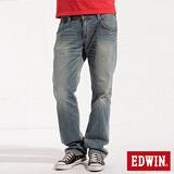 EDWIN BT牛皮袋蓋直筒牛仔褲-男-漂淺藍
