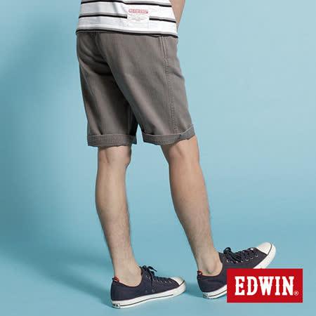 EDWIN 505 KHAKI五分休閒褲-男-麻灰色