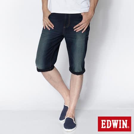 EDWIN 迦績褲JERSEYS短褲-男-原藍磨