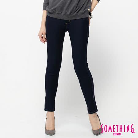 SOMETHING LADIVA保溫窄直筒褲-女-原藍色