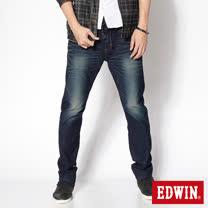 EDWIN 503迦績褲 JERSEYS立體剪裁3D針織牛仔褲-男-原藍磨