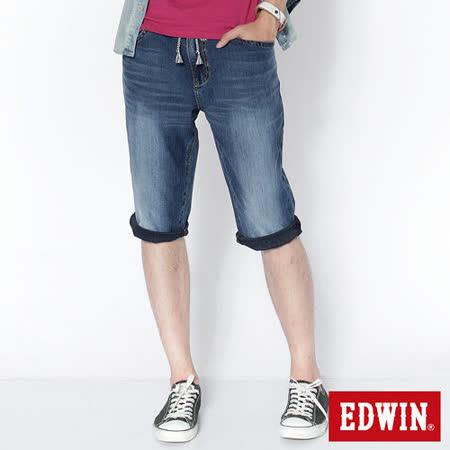 EDWIN 迦績褲JERSEYS短褲-男-石洗綠