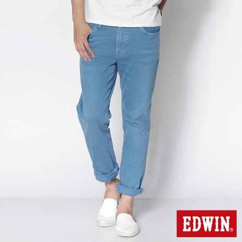 EDWIN 503 NARROW後染中直筒休閒色褲~男~藍色