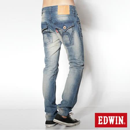 EDWIN 503 B.T袋蓋直筒牛仔褲-男-漂淺藍