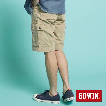 EDWIN B.T口袋成品染短褲-男款(淺卡其)
