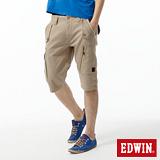 EDWIN 503KHAKI拉鍊短褲-男-灰卡其