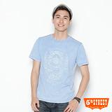 5th STREET 圖騰印刷T恤-男-土耳其藍