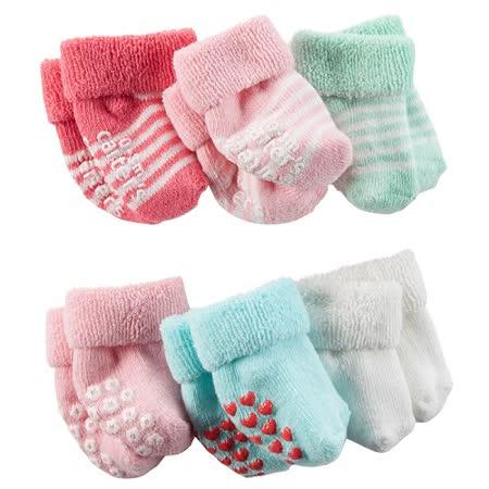 美國 Carter/Carter's 嬰幼兒短襪六入組_CTSG6-12